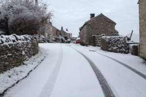 Snow in Over Haddon.